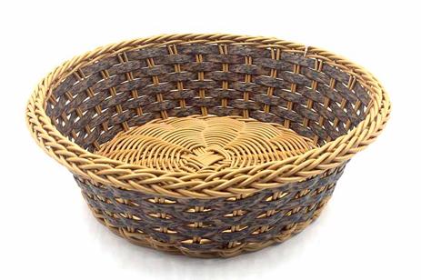 Καλάθι Στρογγυλό Rattan 24cm Καφέ-ΣΚΟΥΡΟ Καφέ Home&Style 7351144-120