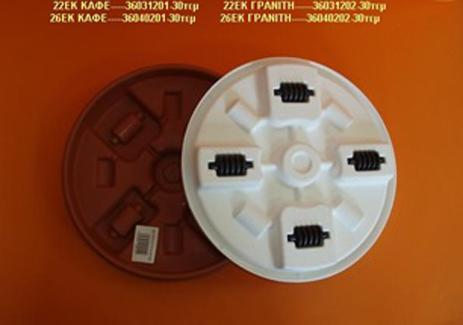 Πιάτο Γλάστρας Πλαστ Στρογγ με Ρόδες Λευκό Φ22cm 36031202