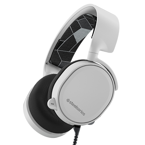 Steelseries Headset Arctis 3 White gaming perifereiaka gaming pc akoystika