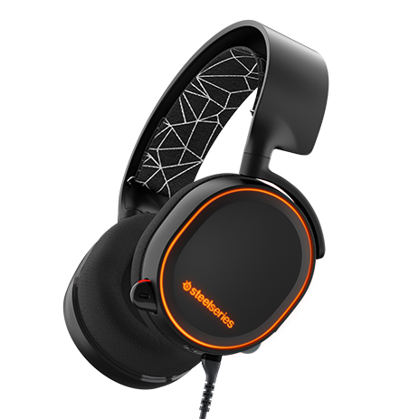 Steelseries Headset Arctis 5 Black gaming perifereiaka gaming pc akoystika