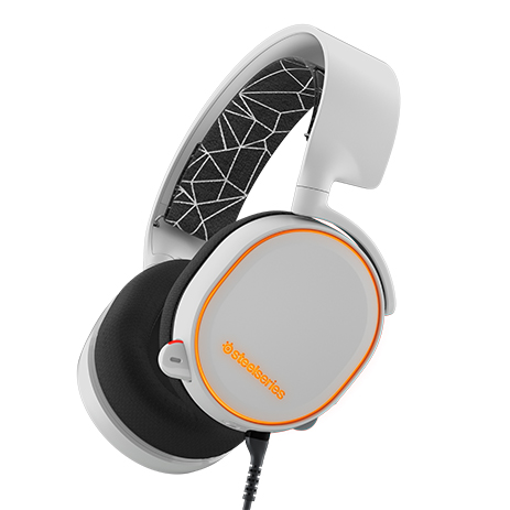 Steelseries Headset Arctis 5 White gaming perifereiaka gaming pc akoystika