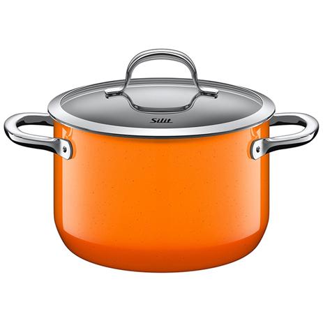 Χύτρα Με Καπάκι 20cm Silit 21.0229.9127 Passion Orange