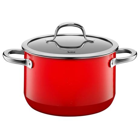 Χύτρα Με Καπάκι 24cm Silit 21.0229.7079 Passion Red
