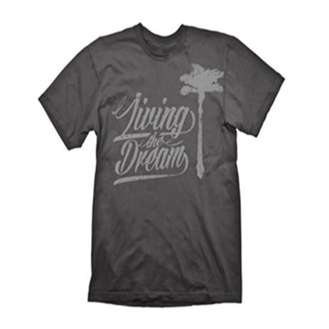 Gaya Dead Island 2 T-Shirt Living The Dream Grey Medium (GE1774M) gaming syllektika paixnidion mployzes t shirts