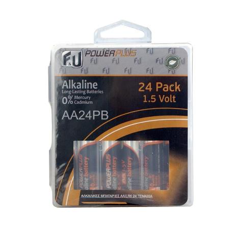 Αλκαλικές Μπαταρίες F&U AA24PB AA/LR6 24τμχ bibliopoleio perifereiaka grafeioy mpataries