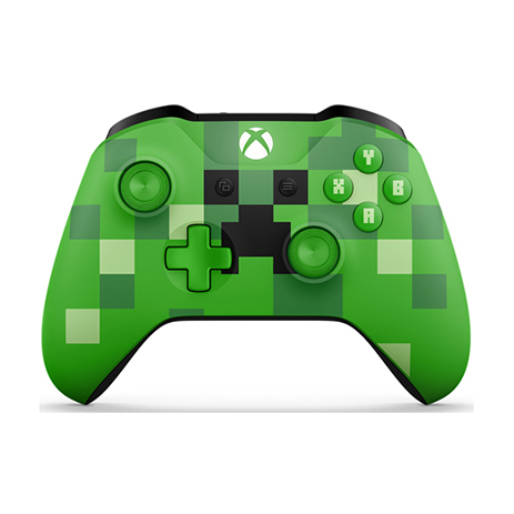 Χειριστήριο Ασύρματο Microsoft Minecraft Creeper Wireless WL3-00057 - Xbox One C gaming perifereiaka gaming xbox one xeiristhria