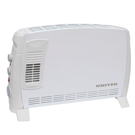 Convector United UHC-838 Turbo Fan/Timer (2000w) hlektrikes syskeyes texnologia klimatismos uermansh uermopompoi