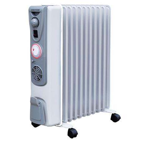 Καλοριφέρ Λαδιού 11 Φέτες United UHR-865 Turbo Fan (2500w) hlektrikes syskeyes texnologia klimatismos uermansh kalorifer