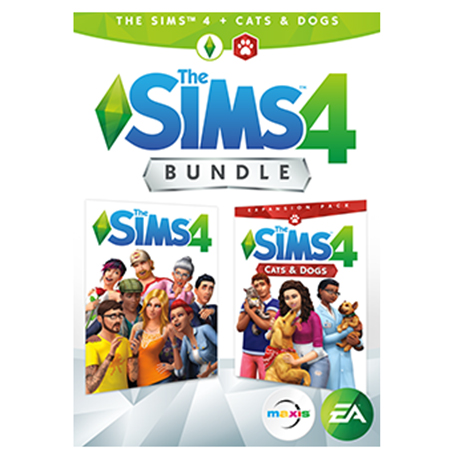 The Sims 4 Plus Cats & Dogs Bundle - PC Game gaming games paixnidia pc