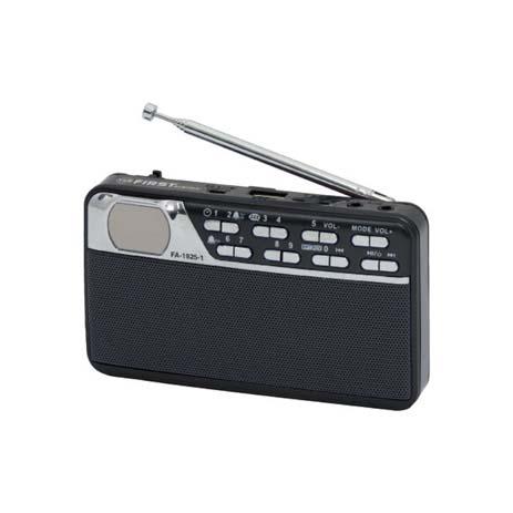 Φορητό Ραδιόφωνο με USB First FA-1925-1-BA Μπλε hlektrikes syskeyes texnologia eikona hxos radiocdhi fi