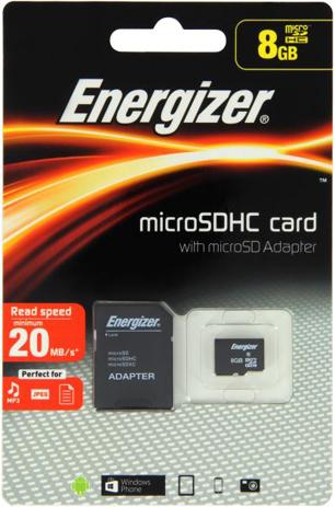 Κάρτα Micro SDHC Energizer CL 8GB (FMDAAC008A) hlektrikes syskeyes texnologia perifereiaka ypologiston kartes mnhmhs