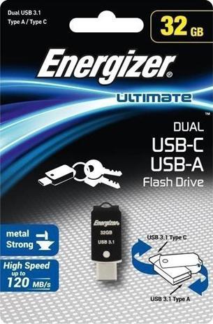 USB Drive Energizer UL 32GB USB-C USB 3.0 OTG hlektrikes syskeyes texnologia perifereiaka ypologiston usb stick