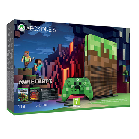 Console XBox One S 1TB Minecraft Limited Edition - XBox One Console gaming konsoles paixnidion xbox one