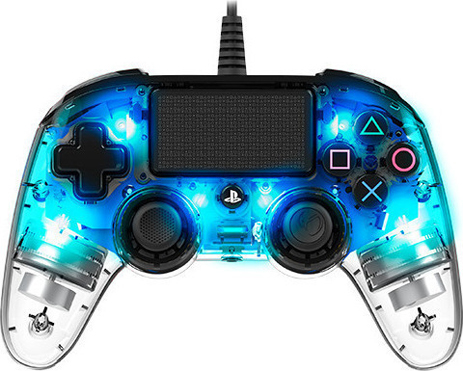 Nacon Wired Controller Crystal Blue - PS4 Controller gaming perifereiaka gaming ps4 xeiristhria