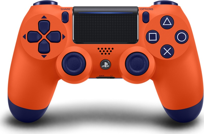 Χειριστήριο Ασύρματο Sony DualShock 4 V2 SunSet Orange - PS4 Controller gaming perifereiaka gaming ps4 xeiristhria