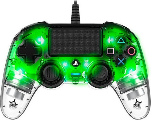 Nacon Wired Controller Crystal Green - PS4 Controller gaming perifereiaka gaming ps4 xeiristhria