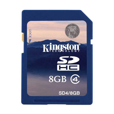 SD Card 8GB Kingston SD4/8GB hlektrikes syskeyes texnologia perifereiaka ypologiston kartes mnhmhs