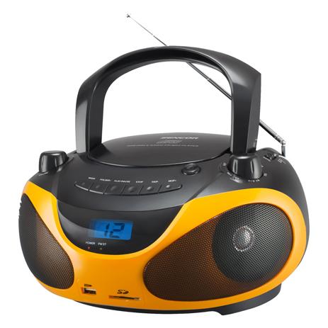 Φορητό Ράδιο-CD Sencor SPT 228 BO Πορτοκαλί hlektrikes syskeyes texnologia eikona hxos radiocdhi fi