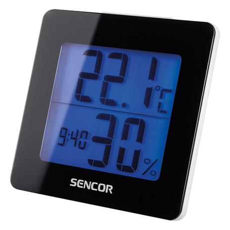 Θερμόμετρο-Ξυπνητήρι Sencor SWS 1500 B Μσύρο paixnidia hobby gadgets meteorologikoi staumoi