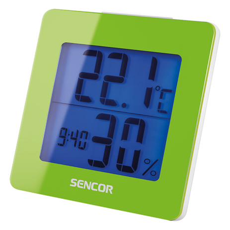 Θερμόμετρο-Ξυπνητήρι Sencor SWS 1500 GN Πράινο paixnidia hobby gadgets meteorologikoi staumoi