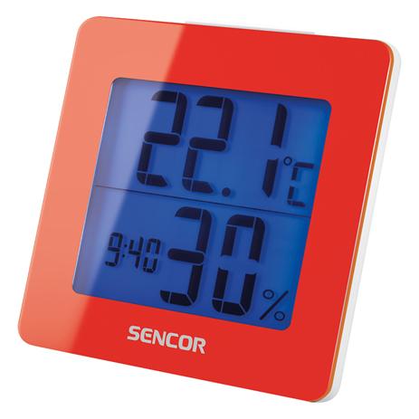 Θερμόμετρο-Ξυπνητήρι Sencor SWS 1500 RD Κόκκινο paixnidia hobby gadgets meteorologikoi staumoi