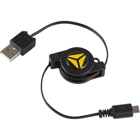 Επαναφερόμενο Καλώδιο USB A/B Micro Yenkee YCU-100RBK hlektrikes syskeyes texnologia perifereiaka ypologiston ajesoyar