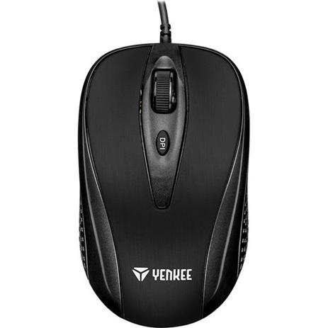 Ενσύρματο Ποντίκι USB Yenkee YMS-1025BK Quito Μαύρο hlektrikes syskeyes texnologia perifereiaka ypologiston pontikia