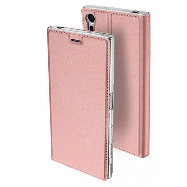 Θήκη Book KLD Skin Pro για Sony XA1 Ροζ Χρυσό (0009094102)