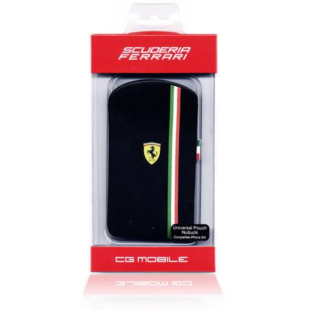 Θήκη Ferrari για Apple iPhone 3G/4 Nubuk Μαύρη Italy (FENU59416) hlektrikes syskeyes texnologia kinhth thlefonia prostateytikes uhkes