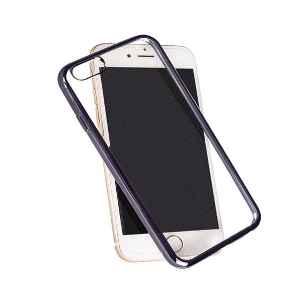 Θήκη TPU για Apple iPhone 6+/6S+ Διάφανη με Ανθρακί Περιμετρικό Mjoy 0009093810 hlektrikes syskeyes texnologia kinhth thlefonia prostateytikes uhkes