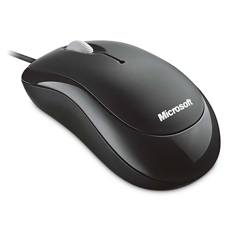 Microsoft Mouse Basic Optical Black hlektrikes syskeyes texnologia perifereiaka ypologiston pontikia