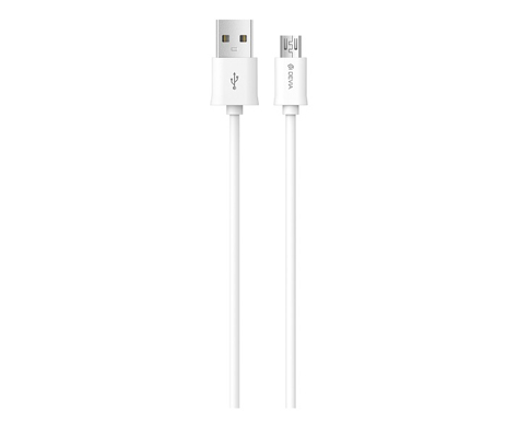 Cable Smart USB Micro White Devia (ΗΑΕ231508) hlektrikes syskeyes texnologia kinhth thlefonia ajesoyar