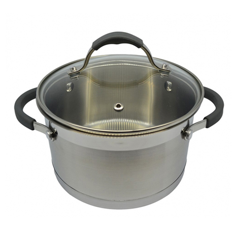 Κατσαρόλα 24cm με Γυάλινο Καπάκι Ankor Κ7800-24