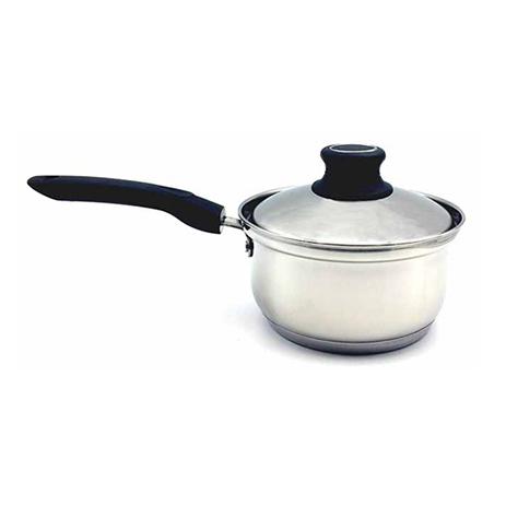 Κατσαρόλι Γάλακτος Inox με Πλαστική Λαβή Νο16 Home&Style 7972516-12
