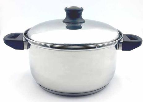 Χύτρα Inox με Πλαστική Λαβή Νο22 Home&Style 7972622-12