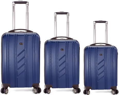 Σετ 3τμχ Βαλίτσες Τρόλεϊ Benzi BZ5154/3 Μπλε paixnidia hobby eidh tajidioy balitses