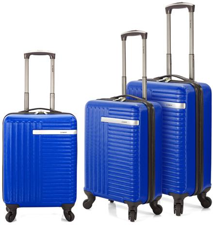 Σετ 3τμχ Βαλίτσες Τρόλεϊ Benzi BZ5161/3 Μπλε paixnidia hobby eidh tajidioy balitses
