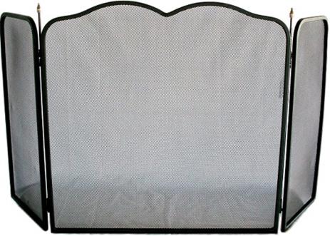 Μεταλλική Σίτα Τζακιού 105x55cm Μαύρη-Ασημί (726141)