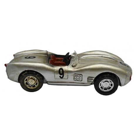 Διακοσμητικό Αυτοκίνητο Πολυεστερικό Ασημί 20,5x7,5x6cm (774661) paixnidia hobby gadgets diakosmhtika