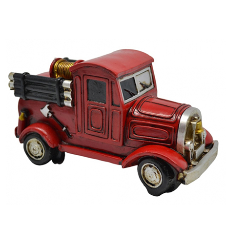 Διακοσμητικό Πυροσβεστικό Όχημα Πολυεστερικό 15,5x7,5x8cm (774791) paixnidia hobby gadgets diakosmhtika