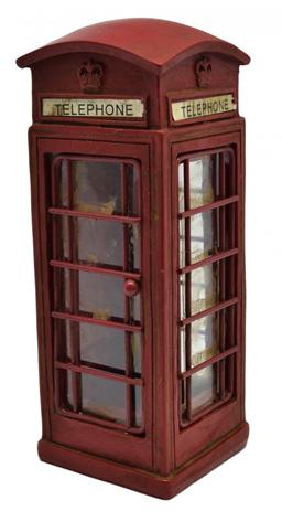 Διακοσμητικός Τηλεφωνικός Θάλαμος Πολυεστερικό 6,5x6,5x17cm (774739) paixnidia hobby gadgets diakosmhtika