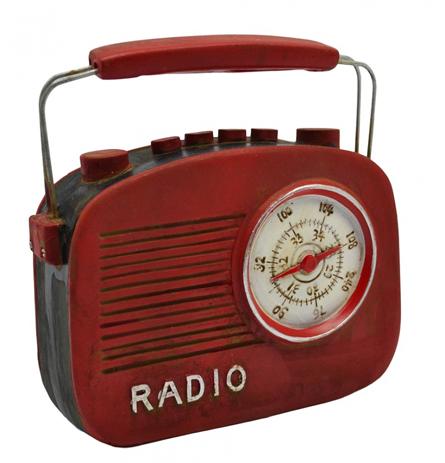 Διακοσμητικό Ραδιόφωνο Πολυεστερικό Κόκκινο 13,5x4,5x13cm (774746) paixnidia hobby gadgets diakosmhtika