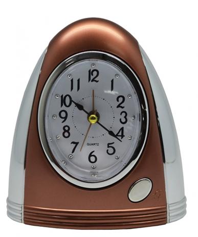 Ρολόι-Ξυπνητήρι 772414 Μπρονζέ-Ασημί hlektrikes syskeyes texnologia eikona hxos radiocdhi fi