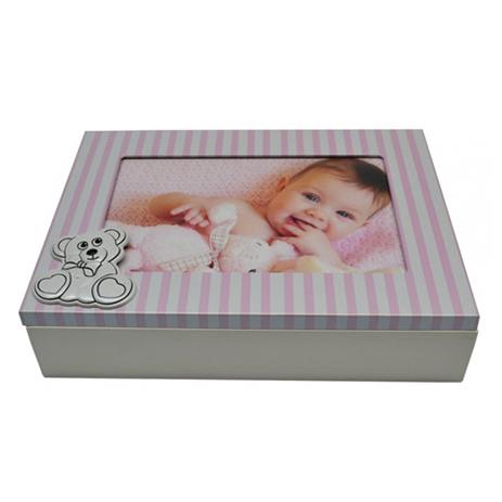 Κουτάκι Ξύλινο με Φωτογραφοθήκη BM-AT64-4 Ροζ paixnidia hobby gadgets idees gia dora