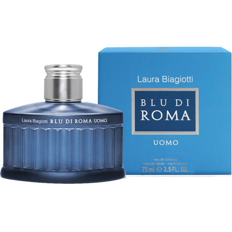 Laura Biagiotti Blu Di Roma Uomo Eau de Toilette 75ml fashion365 aromata andrika aromata