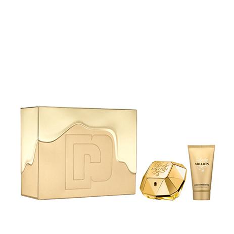 Paco Rabanne Gift Set Lady Million Eau de Parfum 50ml & Body Lotion 75ml fashion365 aromata gynaikeia aromata