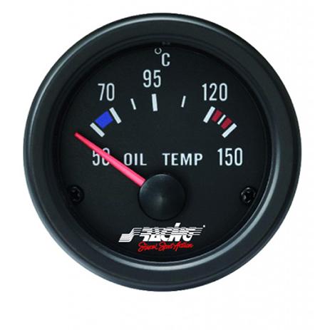 Όργανο Θερμοκρασίας Λαδιού 52mm Simoni Racing OT/B Μαύρο aytokinhto mhxanh esoteriko aytokinhtoy organa metrhshs