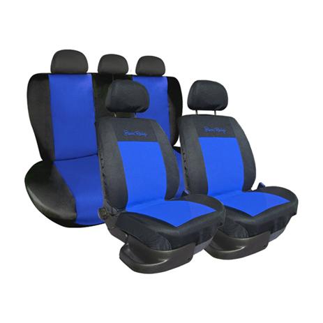 Σετ Καλύμματα Αυτοκινήτου Type-E Simoni Racing SRCSR/EA Μαύρο/Μπλε aytokinhto mhxanh esoteriko aytokinhtoy kalymmata aytokinhtoy