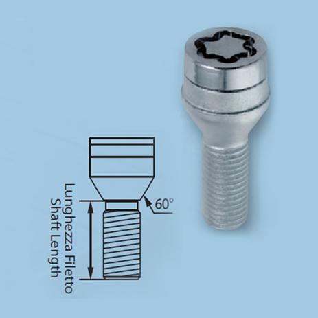 Μπουλόνια 14x1,25 27,3mm Κωνικά Μαύρα Lampa ΧΕ.L.MG27226SUB aytokinhto mhxanh troxoi mpoylonia