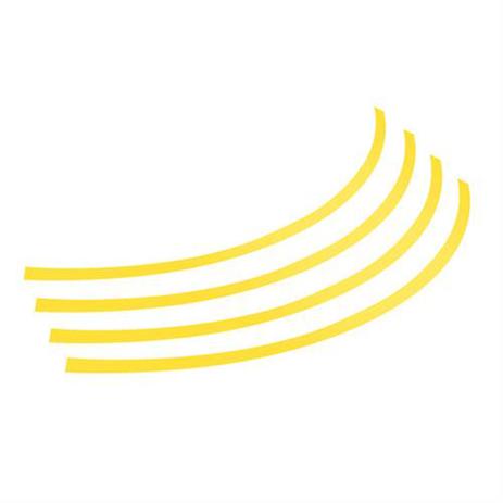 """Αυτοκόλλητα Ζαντών Πλαστικά 14""""-15""""-16"""" Lampa L3078.4 Κίτρινα aytokinhto mhxanh troxoi diakosmhsh"""